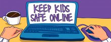 Keep Kids Safe Online Graphic